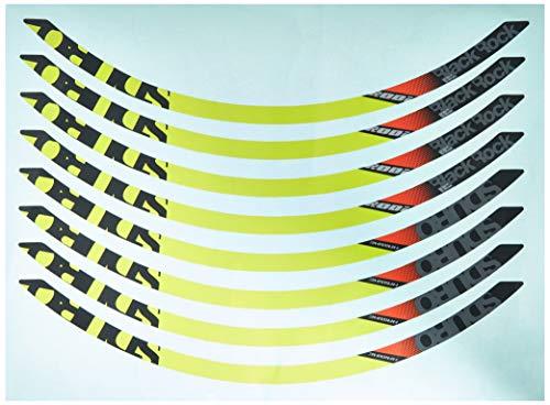 Winora Group 3050812835 Jantes pour Adulte Noir/Citron Vert/Gris/Rouge 27,5 Pouces