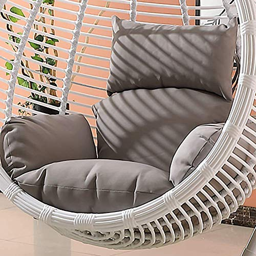 Dljyy Hanging Hammock Chair Cushions Without Stand,swing Rattan Seat Cushioning Nest Thick Removable Hanging Chair Backrest With Pillow-sky Blue (Color : Light Grey)
