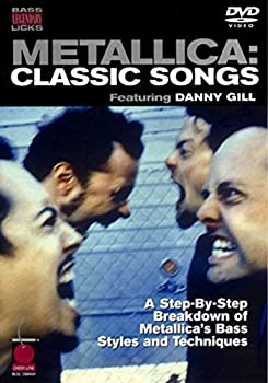 """DVD-ROM """" Metallica """" Classic Songs: Bass Guitar Legendary Licks (Licks DVD) Book"""