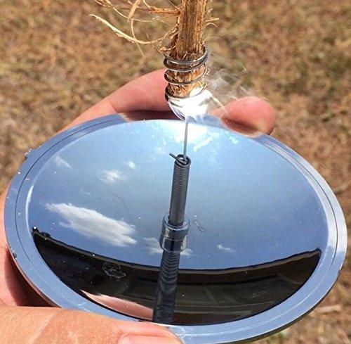ULOOIE Parabolspiegel, geeignet für den Außenbereich, Camping, als Überlebens-Ausrüstung, solarbetrieben, zum Feuer machen