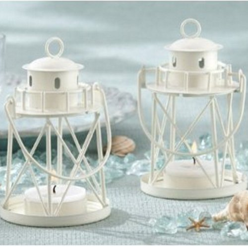 By the Sea Lighthouse Tea Light Holder (pack of 10)