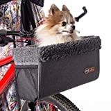 K&H PET PRODUCTS Travel Bike Basket for Pets Classy Gray Small 9 X 12.5 X 8 Inches