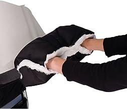 Stroller Handmuff, Handwärmer Handschuhe,Muff mit Fleece Innenseite, Wasserdicht und Winddicht für Baby Buggy Kinderwagen Schwarz