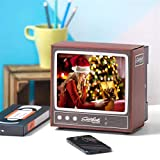 Fuyun 4.5'-6' Retro Mini TV Screen Magnifier, 3D Phone Screen Amplifier Enlarged Video Picture from Mobile Phone – Compatible with All Smartphonesuality Picture