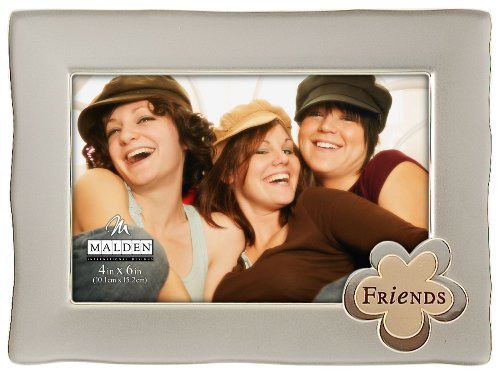 Malden Silver Icon Friends Metal Picture Frame, 4-Inch by 6-Inch