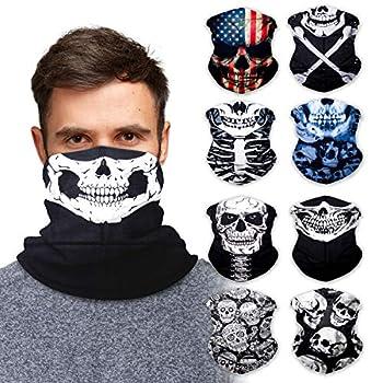 Neck Gaiter Face Mask Bandana  9 Pack  - Neck Gators Face Coverings for Men & Women I Neck Gator Masks