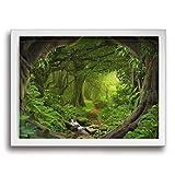 Yanghl ファンタジーの森 アートパネル フォトフレーム フレーム装飾画 アートポスター アートボード アートポスター インテリア 装飾画 壁掛け おしゃれ 部屋飾り キャンバス Arts モダン 木枠セット