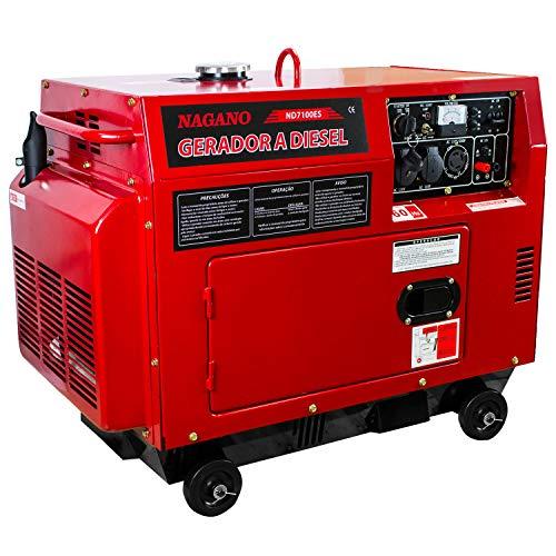 Gerador de Energia a Diesel Silenciado 6 KVA Monofásico Partida Elétrica - ND7100ES