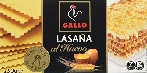 Pastas Gallo - Lasaña Huevo Paquete 290 g - [Pack de 8]