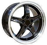 OE Wheels LLC 17 inch Rim Fits Ford Mustang Cobra R Wheel FR04B 17x9 Black Wheel