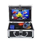 "Eyoyo 7"" LCD 15m 赤外線 魚群探知機 水中カメラ HD 1000TVL 12pcs IR赤外線LED ナイトビジョン フィッシュファインダー 釣り用 サンバイザー付"