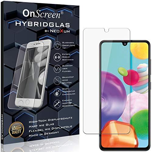 OnScreen Schutzfolie Panzerglas kompatibel mit Samsung Galaxy A41 Panzer-Glas-Folie = biegsames HYBRIDGLAS, Bildschirmschutzfolie, splitterfrei, MATT, Anti-Reflex - entspiegelnd