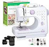 Hukunos Mini Sewing Machine, Electric Household Crafting Mending Portable Sewing Machines, 12 Stitches 2 Speed with Foot Pedal - Perfect For Basic Sewing, Children, Beginners, Kids