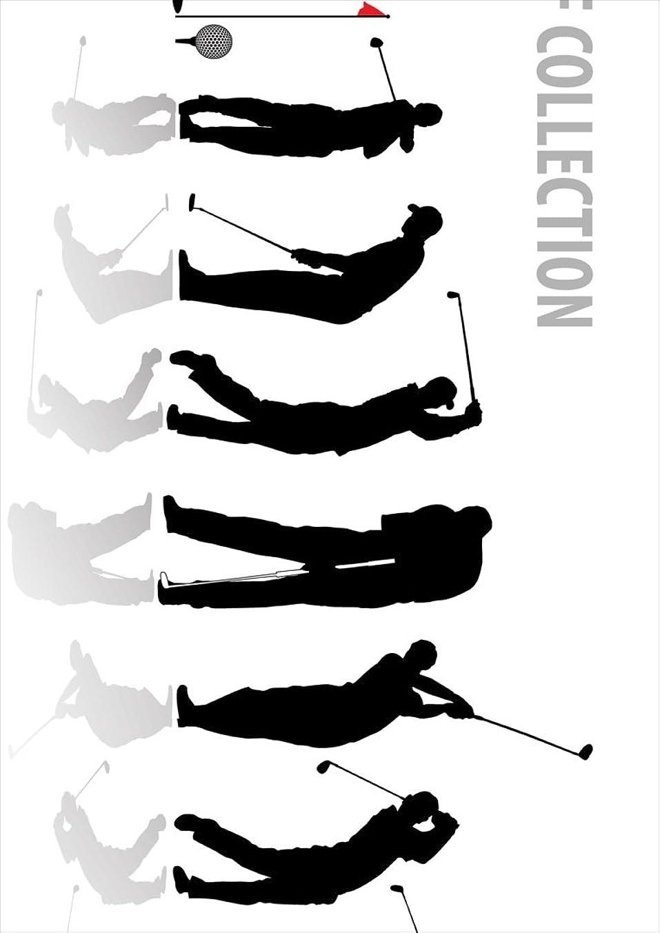 トラフセンター褒賞igsticker ポスター ウォールステッカー シール式ステッカー 飾り 728×1030㎜ B1 写真 フォト 壁 インテリア おしゃれ 剥がせる wall sticker poster 000140 スポーツ ゴルフ ショット イラスト