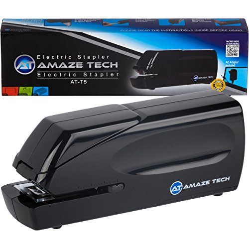 Electric Stapler- Heavy Duty Electric Stapler Automatic Jam-Free Home, School and Office Stapler - AC Powered and Battery Operated - 25 Sheet Capacity...