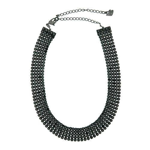 Swarovski Fit Collar Gargantilla, Negro, Chapado en rutenio, 5355185