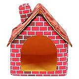 Pet House Red Brick Pet Nest Pieghevole Lussuosa Villa per Animali Domestici Outdoor Dog H...