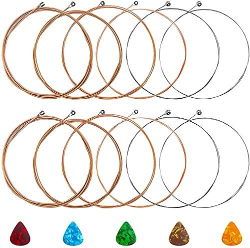 INHEMING 2 Set di 6 Corde per Chitarra Classica di Alta Qualità in Acciaio al Fosforo di Bronzo,con 5 Plettri