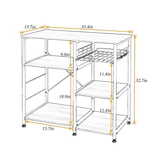 Soges 3-Tier Kitchen Baker's Rack Utility Microwave Oven Stand Storage Cart Workstation Shelf, W5s-B