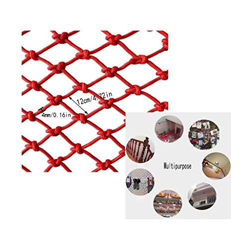 Sicherheitsnetz für Kinder, Mehrzweckkinderschutznetz Balkontreppe Auffangnetz Schutznetz Kindergartendekorationsnetz Zaunnetz Fußballnetz Unterhaltungsplatz Rot (Size : 1x3m)