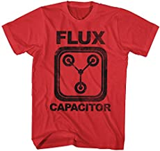 Back To The Future 1985 Comedy Action Movie Flux Capacitor Adult Red T-Shirt