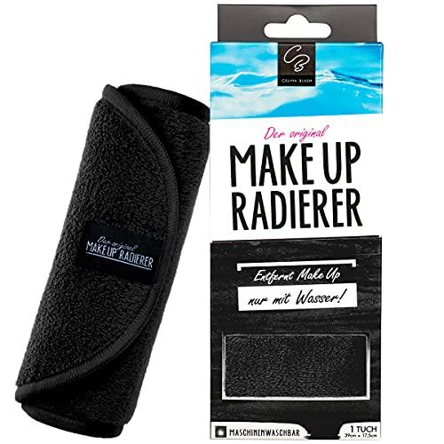 La goma de borrar MakeUp original | Paño desmaquillante de microfibra (trapo, 1 unidad), color negro