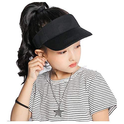 Kids Visor Sun Hat Adjustable Athletic Sports Hat Black