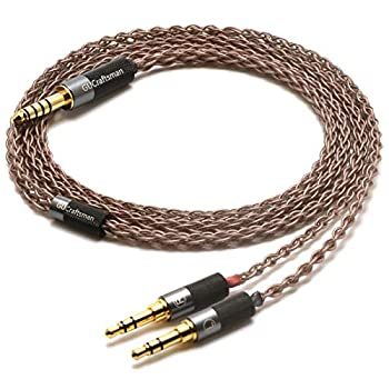 GUCraftsman 6N Single Crystal Copper Upgrade Cable 2.5mm/4.4mm Balance Headphone Cable for HIFIMAN HE1000 v2 Edition X V2 EDX HE1000 SUSVARA Ananda Arya SUNDARA HE400i  4.4mm Plug Two 3.5mm