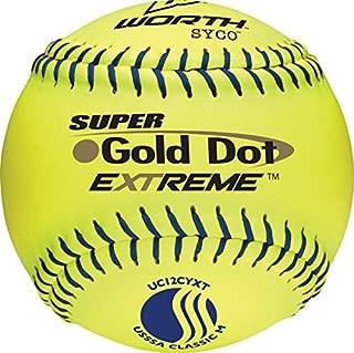 Worth Gold Dot Extreme Classic M USSSA 12 Inch Softball: UC12CYXT
