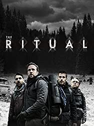 The Ritual film poster/cover with a group of men in a cold wilderness