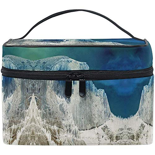 Trousse à maquillage Snow Mountain Art Travel Cosmetic Bags Organizer Train Case Toiletry Make Up Pouch