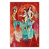 YRZYT Marc Chagall Poster Cuadros 《Carmen 1967》 Abstract Art Dance NiñAs Oil Cuadro Marc Chagall Cuadros Famosos Obra De Arte ExposicióN Lienzo Grabados Living Room Decor