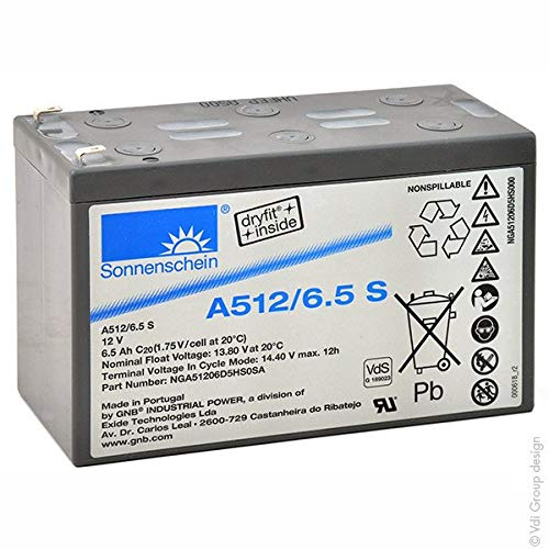 GNB Sonnenschein A500 - Akku Gel A512/6.5S 12V 6.5Ah F4.8