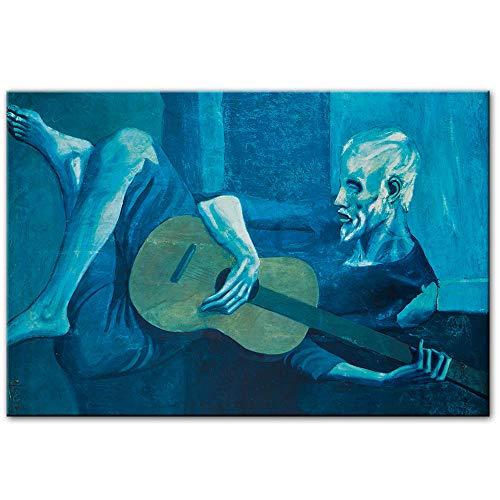 Unbekannt Pablo Picasso Ölgemälde Druck auf Leinwand World Artwork Reproductions Home Wandkunst Bilder-40x60cm No Frame
