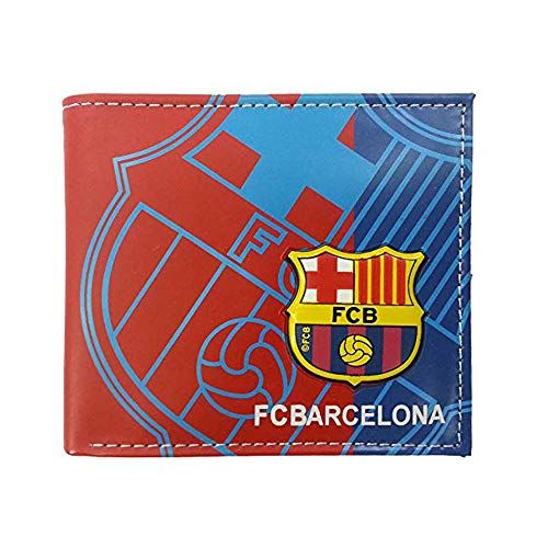 "Football Club Wallet Soccer Team Logo Printed Wallet Unisex PU Leather Wallets for Football Fans (barcelona, 4.33"" X 3.54"")"
