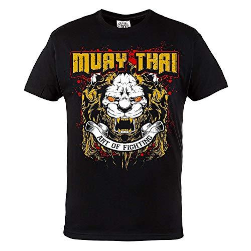Rule Out T-shirt Abbigliamento sport. Muay Thai Art of fighting. allenamento. palestra. sportswear. MMA ABBIGLIAMENTO sport. MARZIALE arti. Casual - Nero, Large