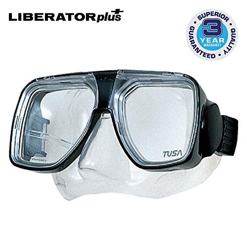 TUSA TM-5700 Liberator Plus Scuba Diving Mask, Black
