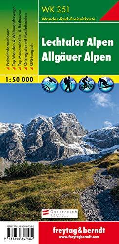 Freytag Berndt Wanderkarten, WK 351, Lechtaler Alpen - Allgäuer Alpen - Maßstab 1:50 000 (freytag & berndt Wander-Rad-Freizeitkarten)