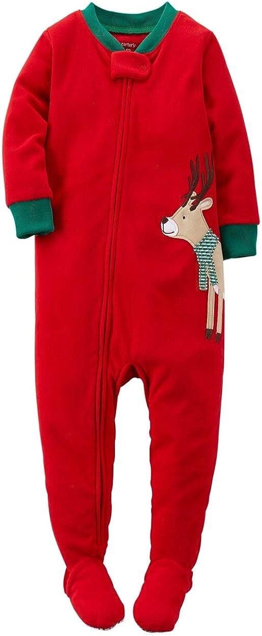 Carter's Little Boys' Holiday Fleece Footed Pajamas