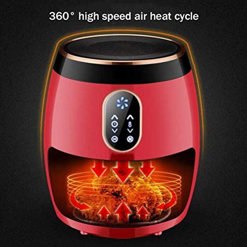 2.6L Air Fryer 1270W with Digital Display,Timer and Fully Adjustable Temperature Control for Healthy Oil Free & Low Fat…