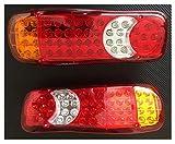 Coppia Fanali Posteriori a LED per Camion Rimorchio Furgone Trattore Semirimorchio Camper Caravan 12V / Fanale a led posteriore 12V, lato sinistro et lato destro