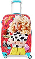 Humty Dumty Barbie Retro Pink Colour Polycarbonate 18 Inch /45.7 cm Kids Hard Luggage Trolley Bag | Travel Bag