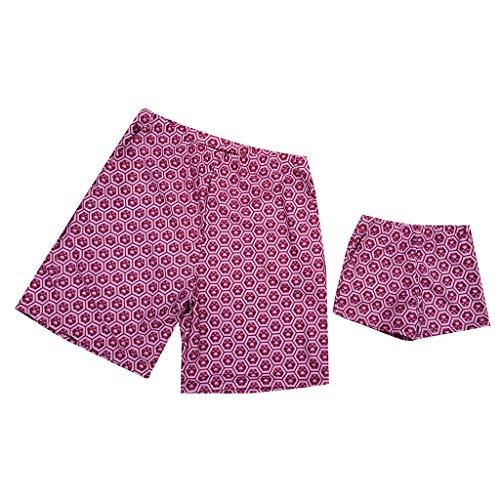 DQANIU 💕💕 Papa & Sohn Laufen Surfen Sport Strand Shorts Badehose Eltern-Kind-Kleidung, Mami & Sling Sling Printing Einteilige Polka Dot Bademode
