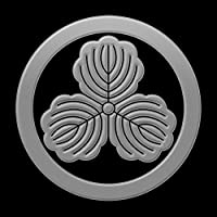 蒔絵シール 家紋ステッカー 「丸に三柏 銀」