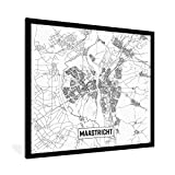 Poster mit Rahmen Niederlande Top 50 - Stadtplan Maastricht