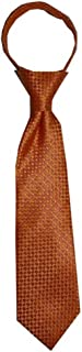 Toddler Tie for children ages 1-4 years old Tangerine Orange Zipper Tie