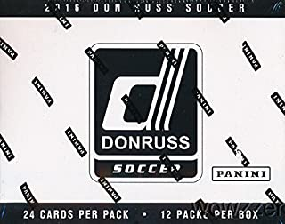 2016 Panini Donruss Soccer EXCLUSIVE ENORMOUS Factory Sealed JUMBO FAT PACK Box with 288 Cards including 12 SPECIAL SWIRLORAMA PARALLEL! Look for Cards & Autographs from Lionel Messi, Ronaldo, & More!
