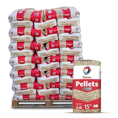 PALIGO Total Holzpellets Premium Heizpellets Nadelholz Wood Pellet Öko Energie Heizung Kessel Sackware 6mm 15kg x 66 Sack 990kg / 1 Palette Total