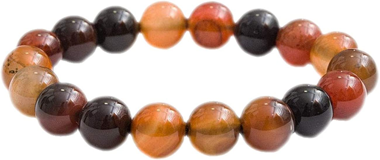 Shree_Narayani Good Luck Dallas New product! New type Mall Carnelian Jewelry Bracelet Brown Men's