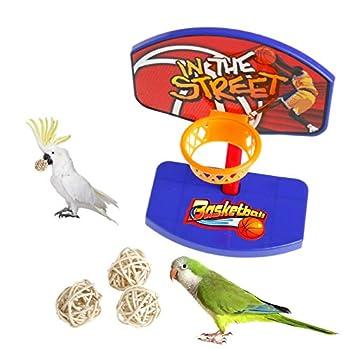 lehaha Lot de 3 jouets à mâcher en rotin pour perroquet, perruche, calopsitte